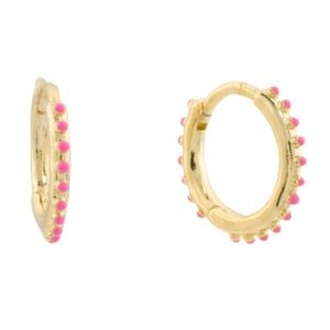 Gorjana 18K Gold Plated Capri Huggies Earrings NWT